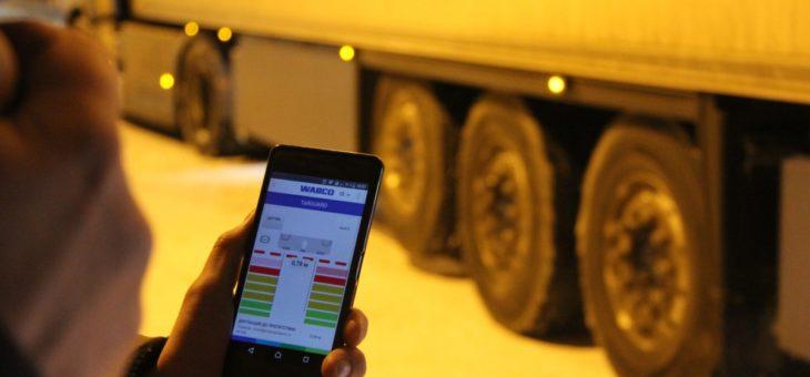 Грузовик в смартфоне: приложение для Android следит за осевыми нагрузками и состоянием колодок