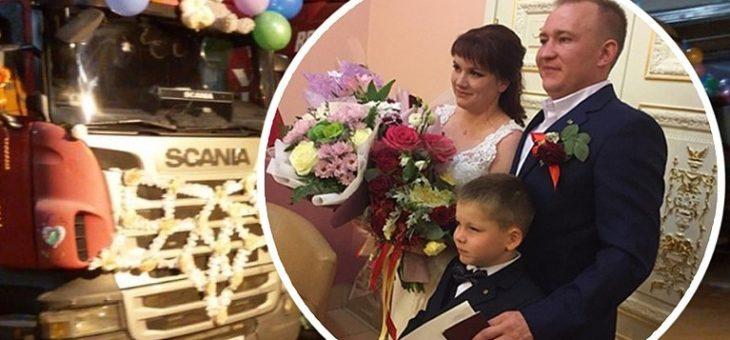В Челябинске молодожены приехали в ЗАГС на четырех… фурах